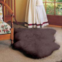 Single Bowron Sheepskin Pelt Rug Dark Brown - $99.00