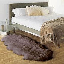 Double  Bowron Sheepskin Pelt Rug Dark Brown - $199.00