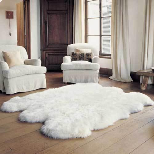 Sexto  Bowron Sheepskin Pelt Rug Natural