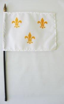 4x6 fleur de lis stick flag 7593