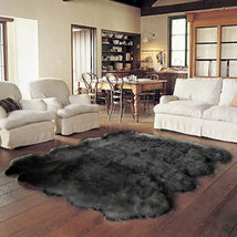 Octo Bowron Sheepskin Pelt Rug Black - $579.00