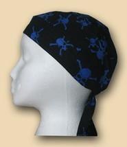 Tossed Blue Skulls Headwrap - $5.40