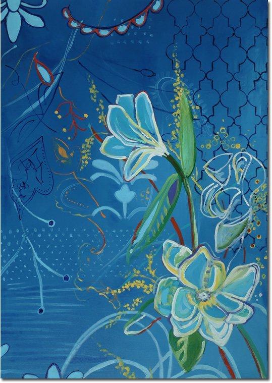 Magnolia on blue 9525 tolan