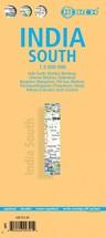 India (South) - Laminated Borch Road Map - $15.54