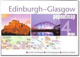 Edinburgh-Glasgow Popout Map - $8.34
