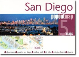 San Diego Popout Map - $8.34