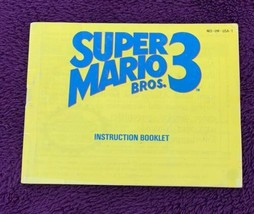 Super Mario Bros. 3 Nintendo Entertainment System (NES) Manual Only Authentic - $8.00