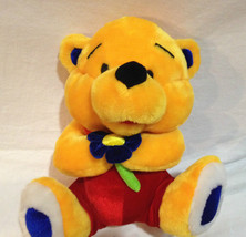 "Ganz Teddy Bear Yellow Sweetheart 10"" Flower Lo... - $9.49"