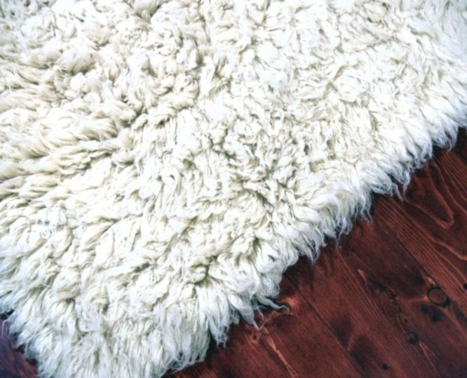 Traditional Flokati Wool Shag Rugs 3.0 Kilo 5ft Round