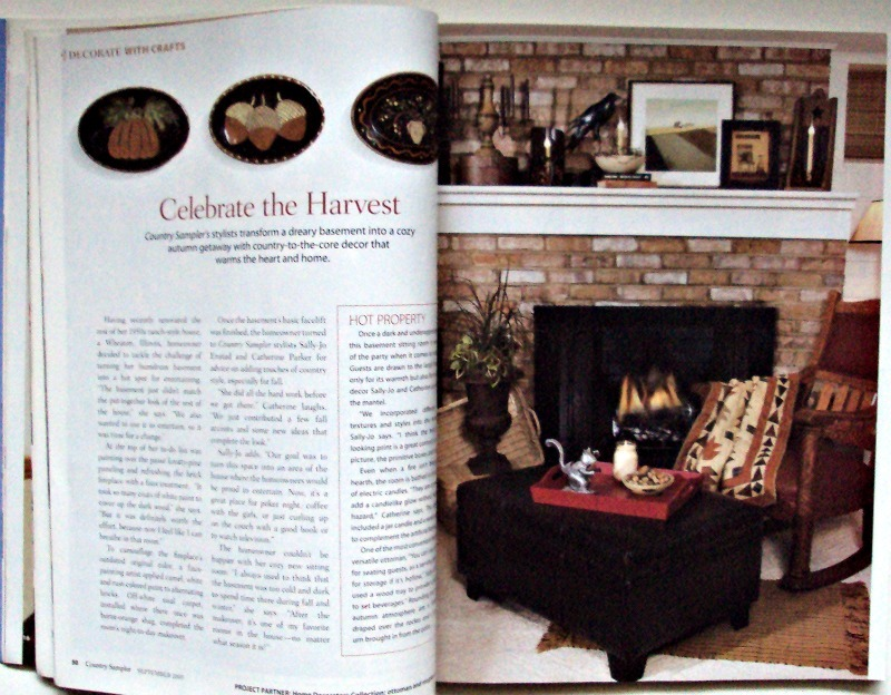 Country Sampler Decorating Ideas Back Issues Magazine September 2005 Autumn Fall