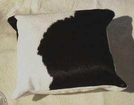 Black and White Cowhide Pillow 15 X 15 inches - $79.00