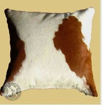 Brown and White Cowhide Pillow 20 x 20 inches - $99.00