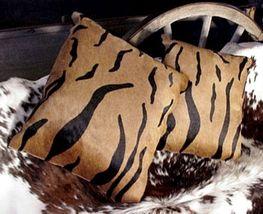 Tiger Print Cowhide Pillow Bengal - $99.00