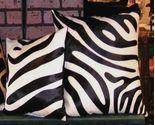 Zebra print b w cowhide pillows2 2  35450 thumb155 crop