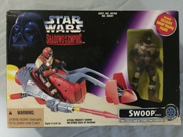 1996 Star Wars Shadows of the Empire Swoop Speeder Bike and Action Figur... - $14.98
