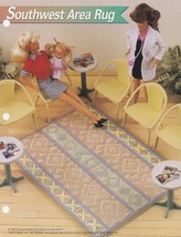 Southwest Area Rug, Annie's Fashion Doll Plastic Canvas Pattern Leaflet ... - $0.99