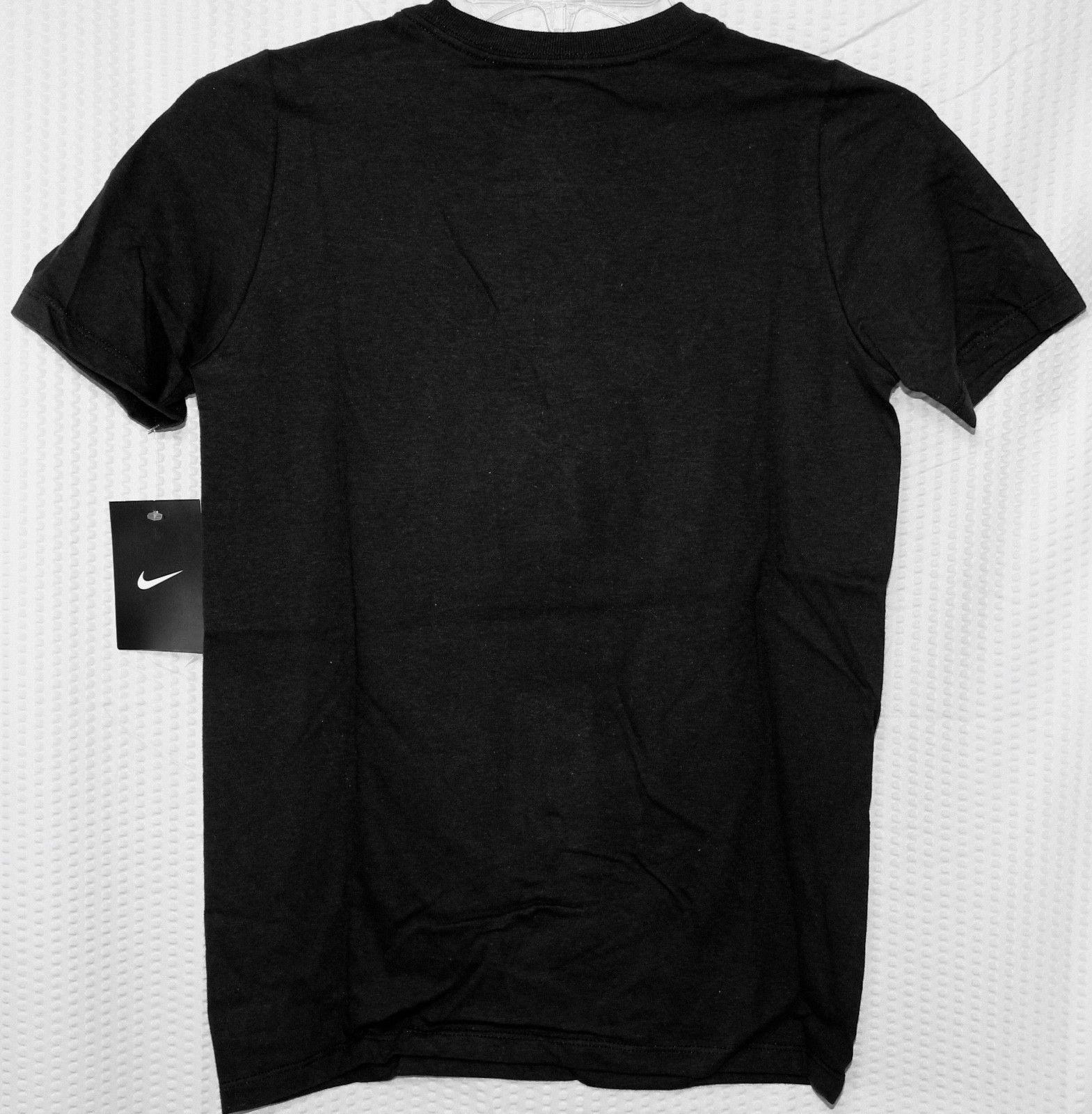 AJ2182-010 NIKE SWOOSH LOGO BOYS T-SHIRT SHIRT BLACK