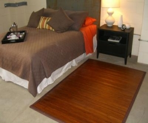 Contemporary Chocolate Bamboo Rug 4ft. x 6ft.