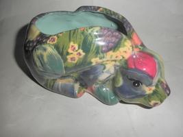 colorful rabbit planter - $15.95