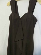 ABS Evening Collection Cocktail Dress Sz 8 Above Knee Sheath Brown Front... - $24.74