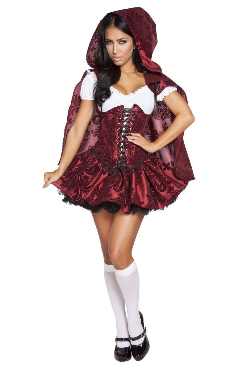 Women`s Red Sexy Lil` Little Red Riding Hood Halloween Costume