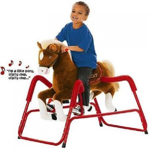 Animated Spring Horse Ride On Pony Rocking Horse Lucky Interactive Plush Musical