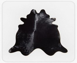 Solid Dyed Black Natural Brazilian Cowhide Rug - $479.00