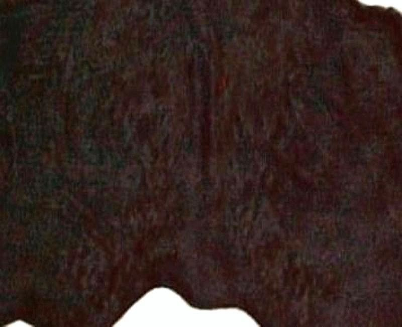 Solid Dyed Chocolate Brown Natural Brazilian Cowhide Rug