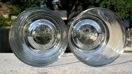 2 NEW CROWN ROYAL WHISKEY GLASSES EMBOSSED BASE 8 OZ - $26.68