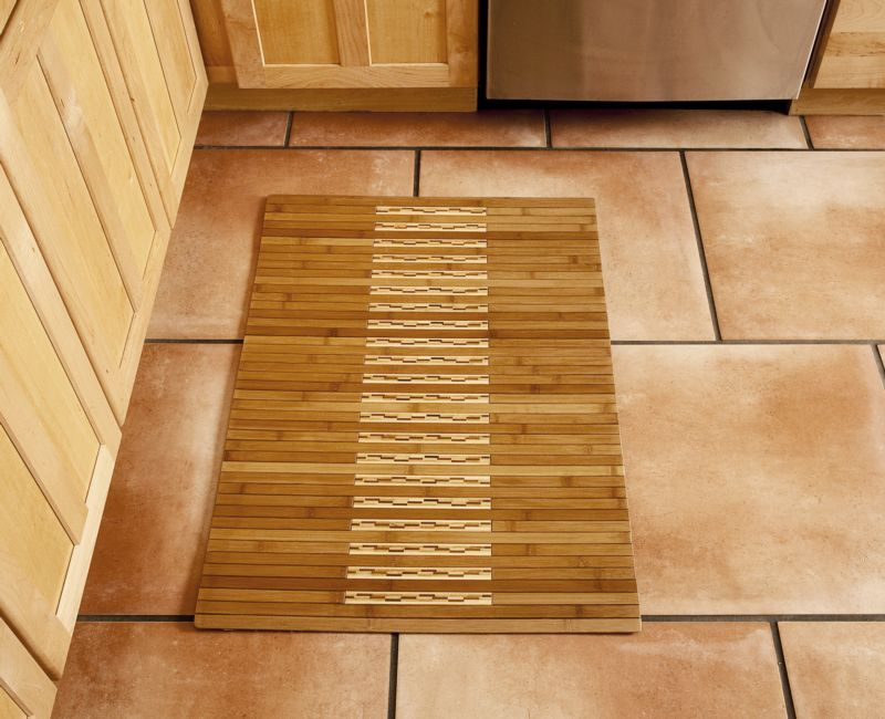 Natural Bamboo Kitchen and Bath Mat 2ft. x 3ft.