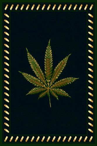 Medical Marijuana  Area Rug 4ft. X 6ft.
