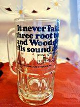 "Vintage SNOOPY Woodstock Peanuts ""Too Much Root Beer"" GLASS DRINKING MUG 1965 image 7"