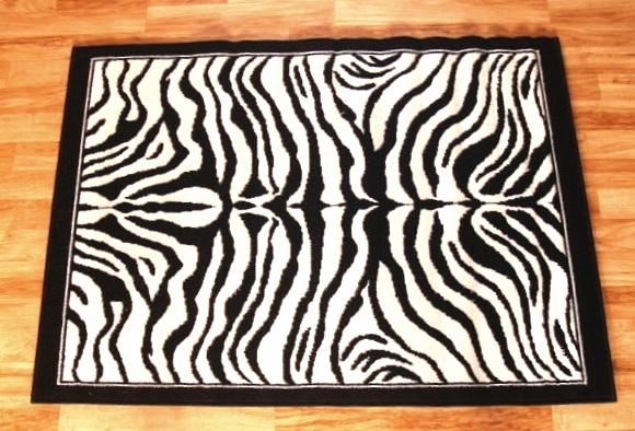Zebra Skin Area Rug 4ft. X 6ft.