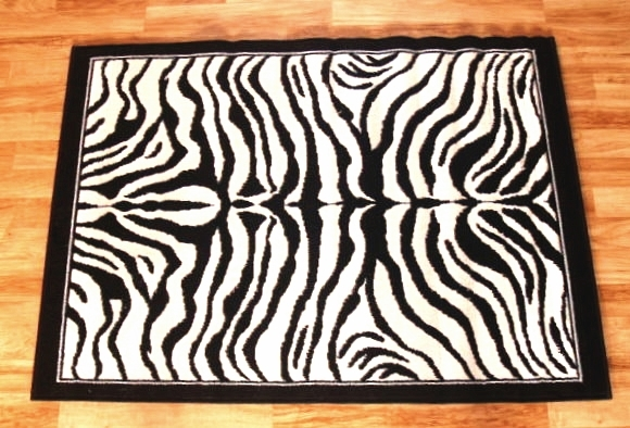 Zebra Skin Area Rug 8ft. x 11ft.
