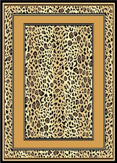 Cheetah Skin Border Area Rug 8ft. x 11ft.