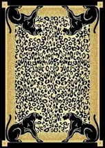 Panther Skin Border Area Rug 4ft. X 6ft. - $49.00