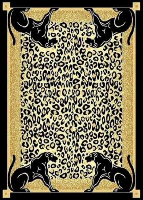 Panther Skin Border Area Rug 5ft. x 8ft.