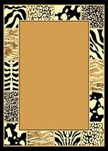 African Mixed Animal Border Skin Area Rug 5ft. x 8ft. - $74.00