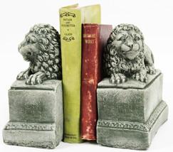 Lion Concrete Bookends Pair  - $64.00