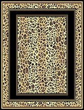 Leopard Skin Double Border Area Rug 5ft. x 8ft. - $74.00