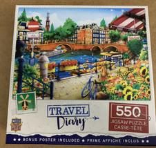 Travel Diary - Amsterdam 550 PC Jigsaw Puzzle - $16.00