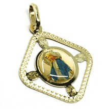 Pendant Medal, Yellow Gold 750 18K, Miraculous, Rhombus, Frame, Enamel image 1