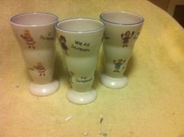 (3) SUNDAE BOWLS / CUPS--I SCREAM, YOU SCREAM, WE ALL SCREAM ---FREE SHI... - $26.20