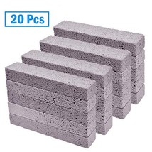 YoleShy 20 Pcs Pumice Stones Sticks Cleaner, Grey Pumice Scouring Pad for Cleani