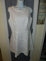 Sail To Sable White Fit And Flare Basketweave Dress Size 10 Women's NWOT - $110.00