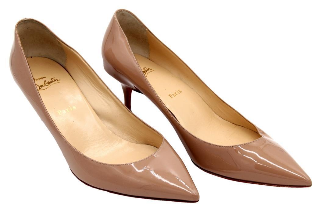 Christian Louboutin Pigalle Follies Pointy 55mm Poudre Patent Nude 41 Pre  Owned - $455.39
