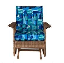 "23""x22"" OUTDOOR PATIO DEEP SEAT SEATING CUSHION SET Blue Mosaic - €61,36 EUR"
