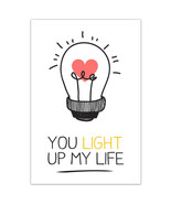 You Light Up My Life Gift Anniversary Room Decor Wall Art Poster - $6.44+