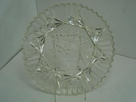 Vintage Round Glass Sandwich Appetizer Server Tray Serving Party Platter... - $12.44