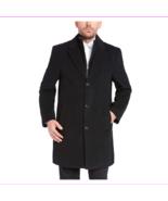 Kirkland Signature Men's Cashmere Blend Wool Overcoat, Black, Size 48 Reg - $28.60